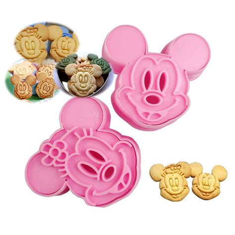 Mickey & Minnie Mouse Shape Cookie Mold Cutter - USA