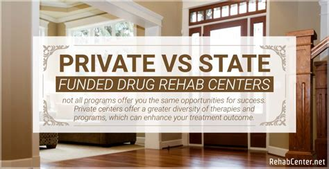 Private Vs State-Funded Drug Rehab Centers