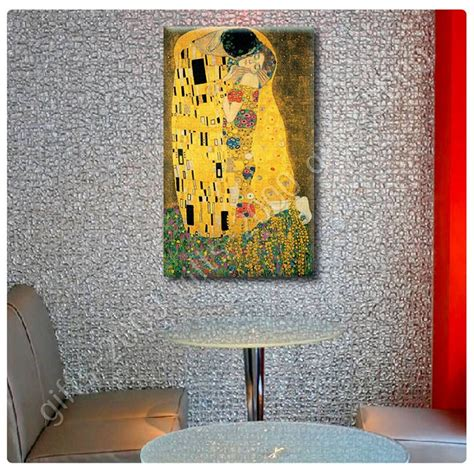 The Kiss by Gustav Klimt   Ready to hang canvas   Wall art