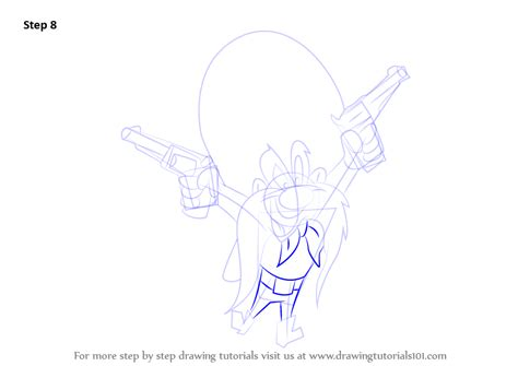 Step by Step How to Draw Yosemite Sam from Looney Tunes