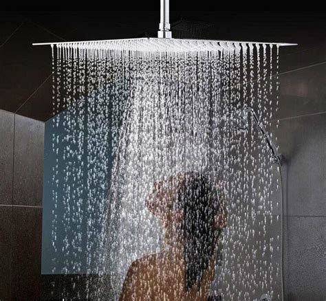 16 Inch Luxury Super Large Ceiling Rainfall Top Square