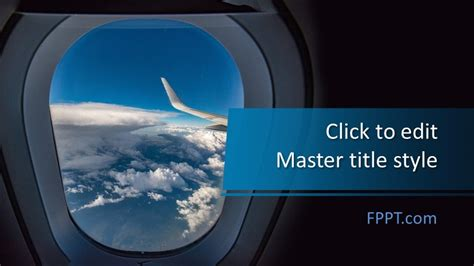 Free Airplane Window PowerPoint Template - Free PowerPoint
