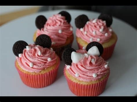 How to Make Minnie Mouse Cupcakes   Simply Bakings - YouTube