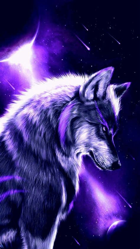 Rainbow Fire Wolf Wallpapers - Wallpaper Cave