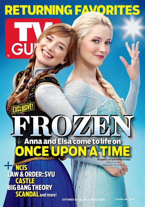 OUAT's Anna and Elsa of Frozen as TV Guide's Cover - Once