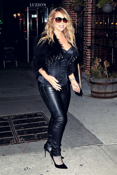 Mariah Carey at Luzzo's in NYC - Leather Celebrities