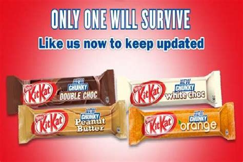 Crowdsourced Candy Bar Flavors : kit kat choose a chunky