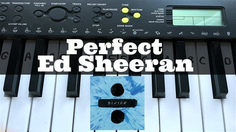 Perfect - Ed Sheeran   Easy Keyboard Tutorial With Notes