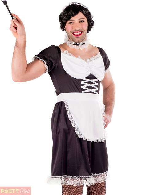 Mens Stripper Nurse French Maid Gimp Costume Male Stag Do