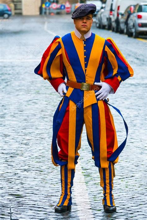 Famous Swiss Guard at Vatican City - The Swiss Guards in