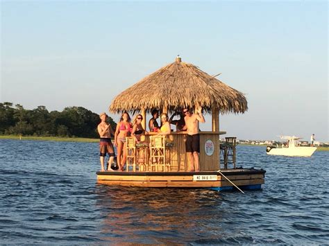 The Floating Tiki Bar In Wrightsville North Carolina Is