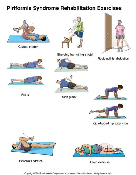 Piriformis Syndrome Exercises: Illustration (With images