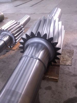China Customized Pinion Shaft For Ball Mill Manufacturers
