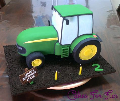 John Deere Tractor Cake Made From Chocolate Mud Cake With