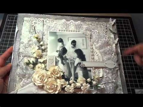 12x12 Wedding Scrapbook Layout: Another I Am Roses
