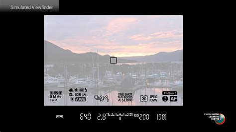 Utilize the intelligent viewfinder functions in the Canon