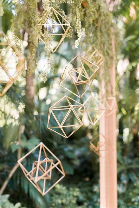 40+ Chic Geometric Wedding Ideas for 2018 Trends - Oh Best