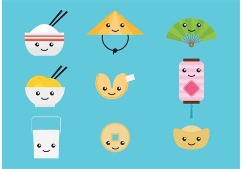 Cute Chinese Vector Characters - Download Free Vectors