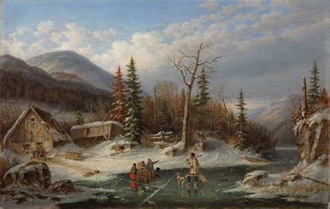 File:'Winter Landscape, Laval', oil on canvas painting by