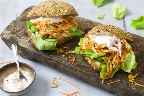 Broodje pulled chicken - Chickslovefood