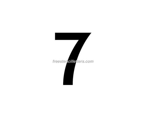 Print Number 7 Letter Stencil - Free Stencil Letters