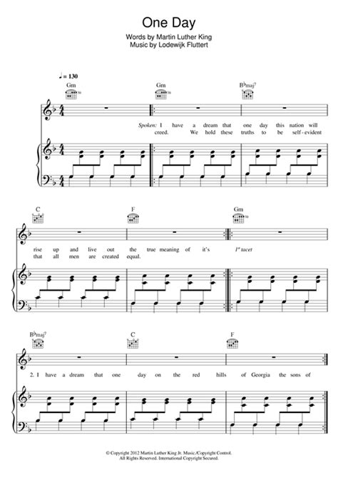 One Day (Vandaag) sheet music by Bakermat (Piano, Vocal