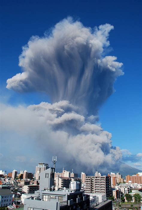 Volcano eruption in Japan coats nearby city with layer of