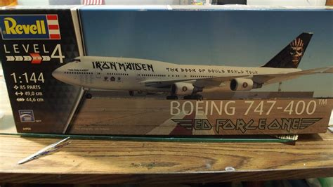 """Iron Maiden's """"Ed Force One"""" 747-400 by Revell models"""