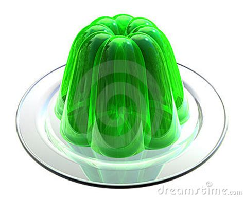 Green Jelly On Dessert Plate Royalty Free Stock