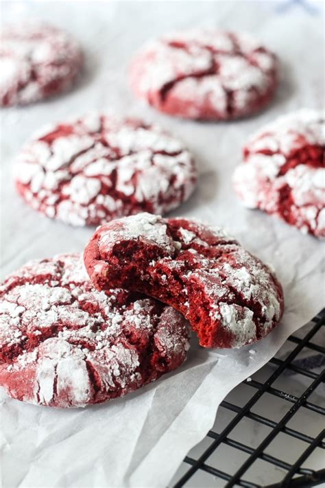Cake Mix Red Velvet Crinkle Cookies   Chocolate with Grace
