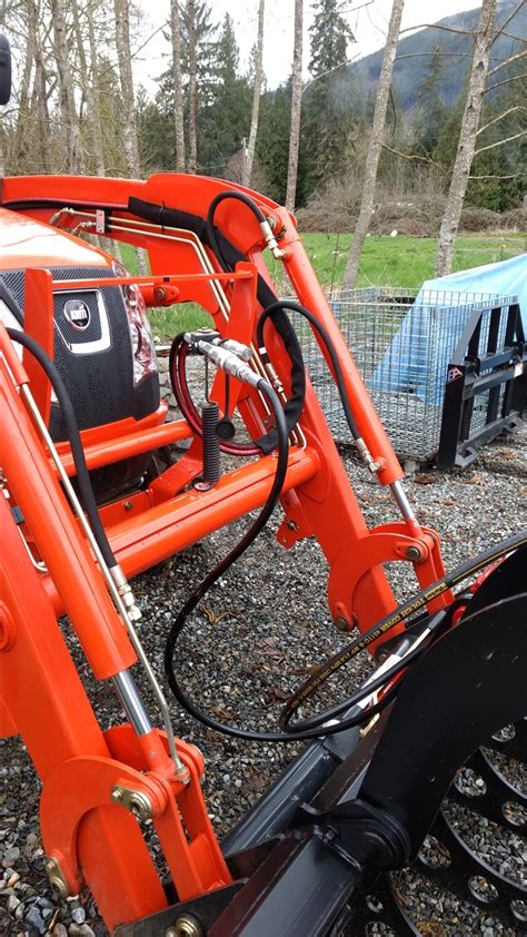 This kit allows you to re route the hoses on your tractor