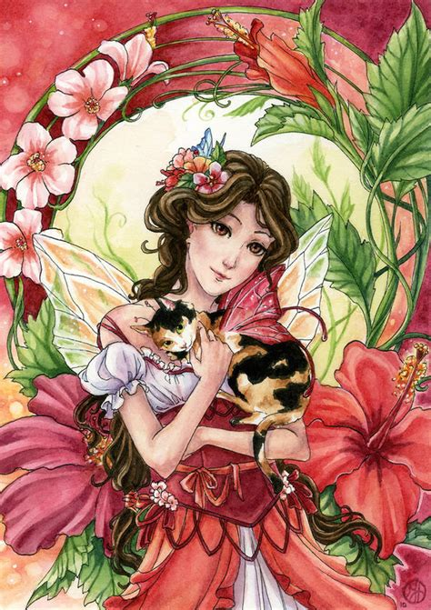 Hibiscus Fairy by Meredith Dillman | DecalGirl