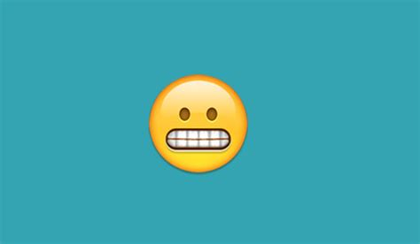 What does the bared teeth emoji mean on iPhone and Android
