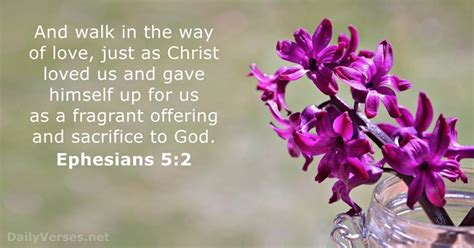 August 19, 2015 - Bible verse of the day - Ephesians 5:2