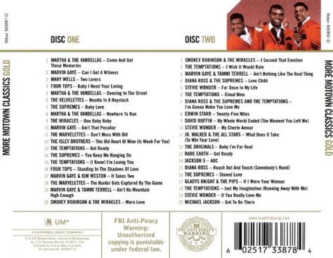 More Motown Classics Gold - Various Artists   Songs